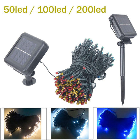$15.68- 50Led/100/200 Led Solar Sun Lamps Led String Fairy Lights Garland Christmas Solar Sun Lights For Wedding Garden Party Decoration Outdoor