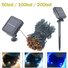$18.56- 50Led/100/200 Led Solar Sun Lamps Led String Fairy Lights Garland Christmas Solar Sun Lights For Wedding Garden Party Decoration Outdoor
