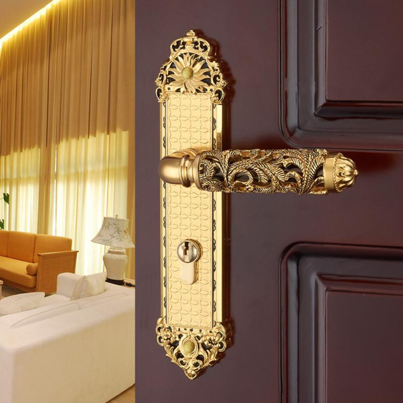 Buy Hardware Indoor Wooden Door Lock Mechanical Double Tongue Lock ...