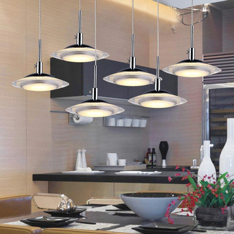 $53.01- Modern Simple Led Restaurant Lights Acrylic Living Room Chandelier Lamps Ceative Dining Pendant Lamps Three Heads Bar Droplights