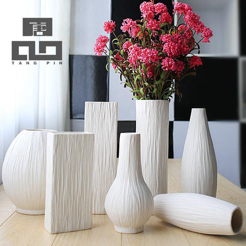 $53.93- TANGPIN european fashion ceramic flower vaseporcelain vases decorativesvaso for home decoration moderntabletop vase
