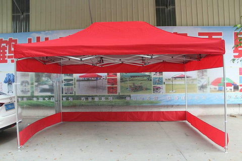 3*4.5M Outdoor Folding Advertising Tents Sun Shelter Gazebos W/ Transparent Waterproof Pvc Side Cloth