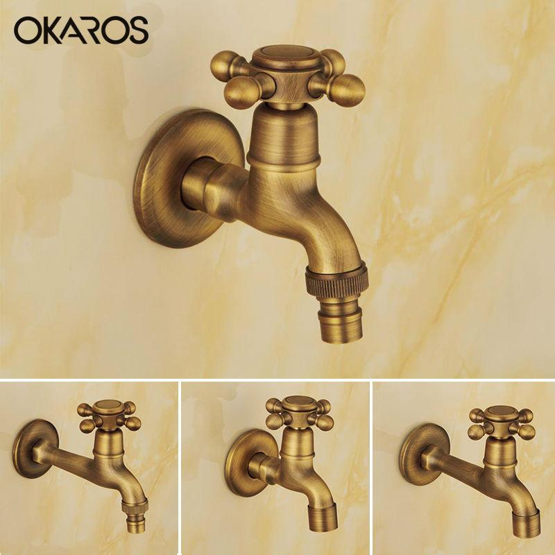 Buy Okaros Antique Brass Finish Laundry Mop Pool Washing Machine ...