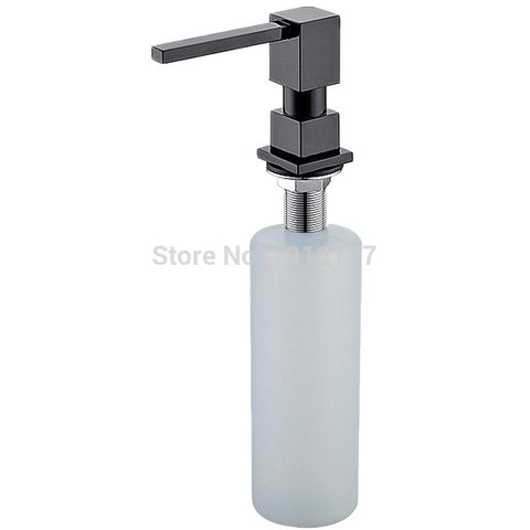 $45.00- Newly Promotion High Quality Square Style Pure Black/Brushed Nickel/Chrome/Gold Solid Brass Kitchen Soap Dispenser