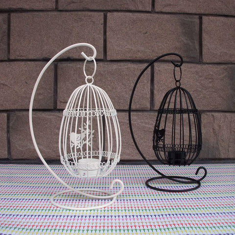 Beautiful Birdcage Iron Candlestick Decorative Tealight Metal Candle Holders Creative Wedding Products Gifts Sconce