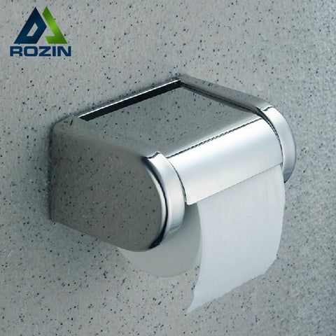 $23.40- Durable Stainless Steel Toilet Paper Holder Tissue Holder Roll Paper Holder Box Bathroom Accessories