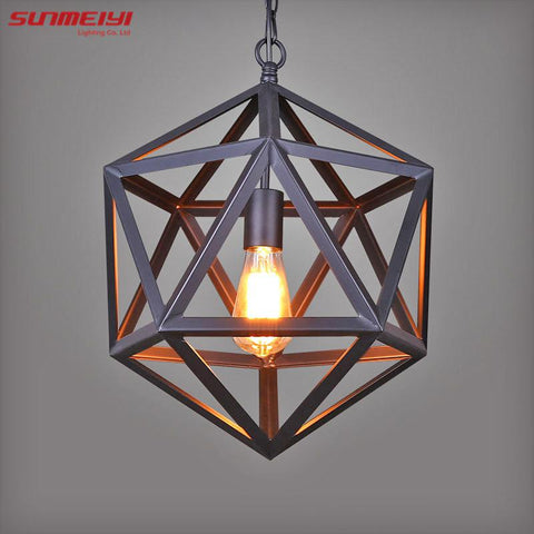 $99.96- Vintage Pendant Light Industrial Edison Lamp American Style Ancient Wrought Iron Rh Loft Coffee Bar Restaurant Bedroom Lights