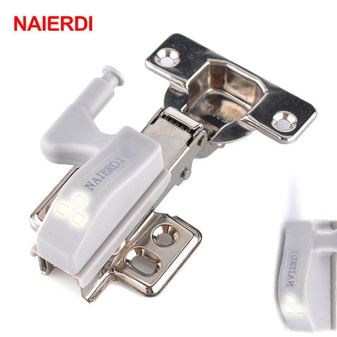 $12.43- 10Pcs Naierdi Universal Kitchen Bedroom Living Room Cabinet Cupboard Closet Wardrobe 0.25W Inner Hinge Led Sensor Light System