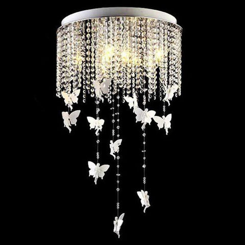 $297.15- New Angel Creative Modern Crystal Chandelier Lamp European Style Led Crystal Dining Bedroom Lamp Warm Room Lamp For Children