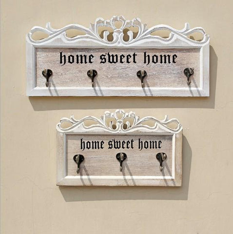 1PC American Country Creative Clothing Store Wooden Wall Shelf Decoration Wood Wall Living Room Furniture Coat Rack JL 010