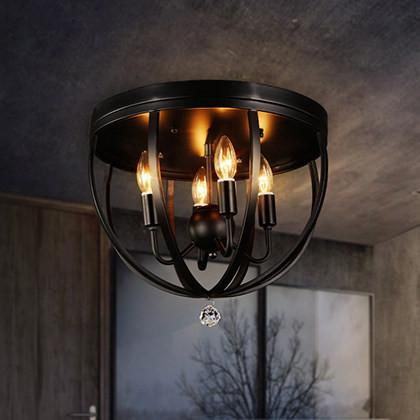$366.40- Loft Vintage Bar Light Fixture Loft Industrial Ceiling Luminaire Stairs Balcony Iron Ceiling Lights
