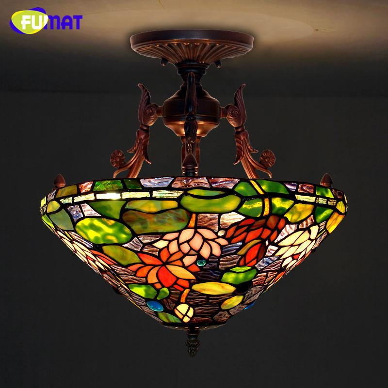 Buy tiffany ceiling lamp european style lotus pond stained glass 43970 tiffany ceiling lamp european style lotus pond stained glass tiffany elegant classic lamp living mozeypictures Images