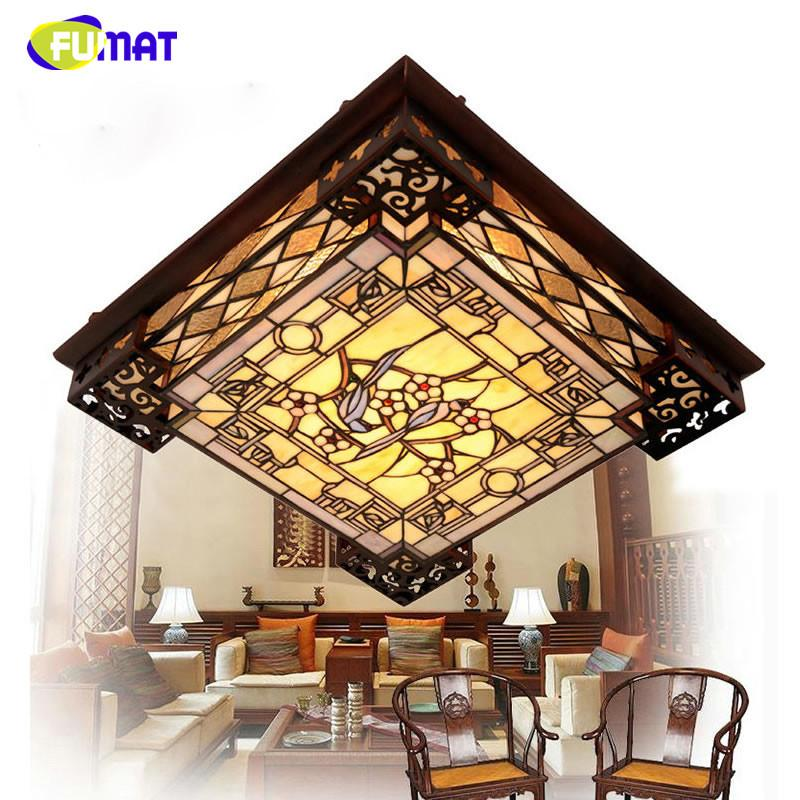 Tiffany ceiling lamp european style led rectangle ceiling lamp tiffany ceiling lamp european style led rectangle ceiling lamp chinese classic stained glass lamp living room restaurant lamp mozeypictures Choice Image