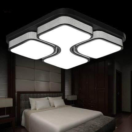 110V/220V Square Acrylic LED Ceiling Light White/Black color Iron LED Ceiling lamp for living room Modern home lighting