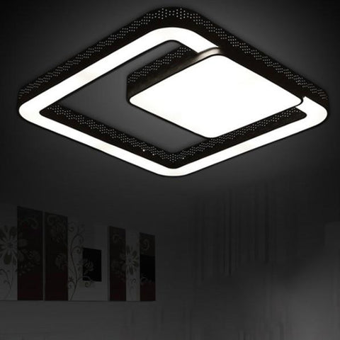 Modern 38W Led Ceiling Light Living Room Kitchen Hallway Bedroom Children Lamp Home Lighting Fixtures White Iron Ac 110-220V