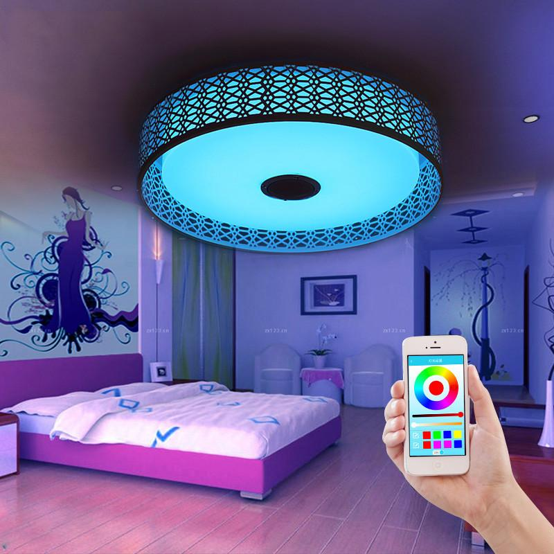 $240.60- Bluetooth Music Ceiling Lights Intelligent Led App Sitting Room Bedroom Lamp Is Acted The Role Of Colorful Color Light