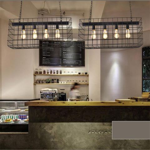 Black Pendant Lights Project Brand Design Vintage Bar Cafe Suspension Luminaire Art Deco Drop Light Wrought Iron Nordic Creative