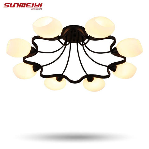 Vintage Ceiling Lights loft Luminaire Multiple Rod Wrought Iron Lamp E27 Bulb For Home Lighting Living Room Lamparas De Techo