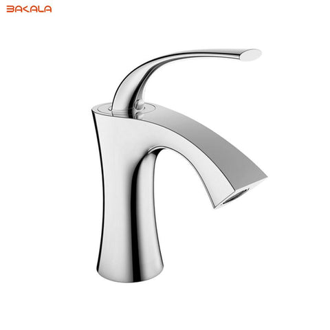 Hot Brass Chrome Finish Bathroom Basin Faucet Hot Cold Water Mixer Tap