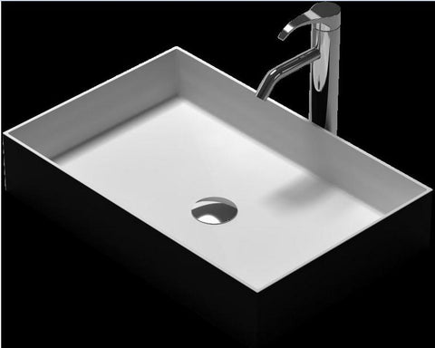 $523.16- Rectangular Bathroom Solid Surface Stone Under Counter Sink Fashionable Wash Basin Xrs38337