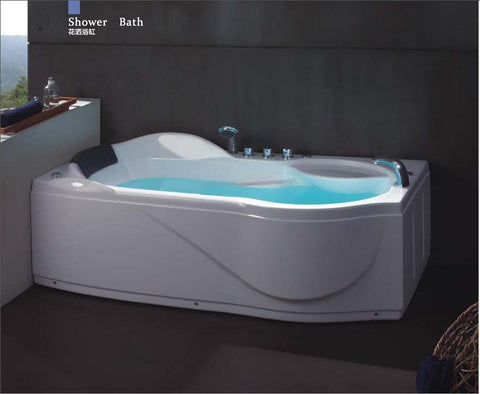 $2168.45- 67' Left Or Right Head Rest Putting Whirlpool Bathtub Acrylic Abs Composite Board Piscine Massage Hot Tub W4008