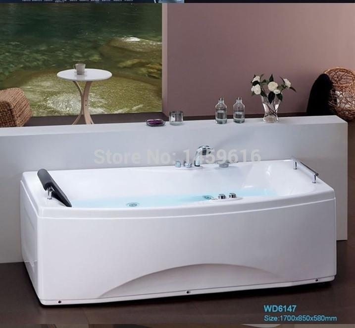 $1703.45- 67' Sea Whirlpool Bathtub Acrylic Abs Composite Board Piscine Massage Hot Tub W4006