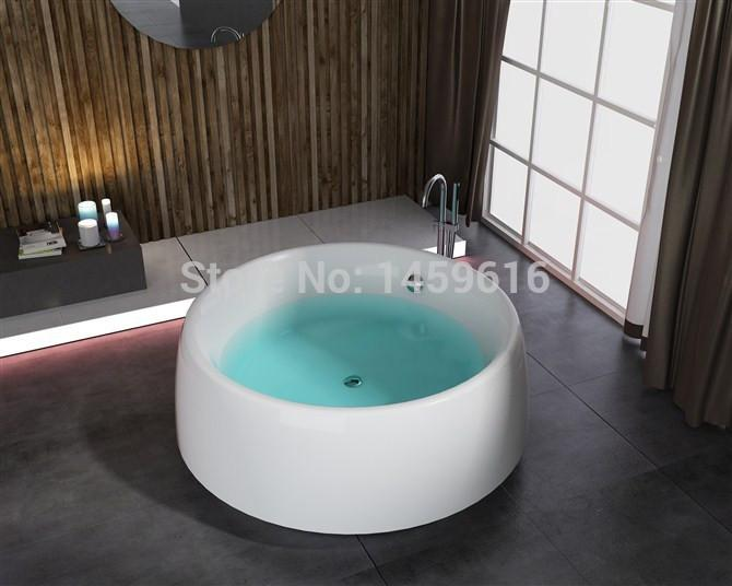 $2337.40- 71' Sea Round standing Bathtub Acrylic Abs Composite Board Piscine Soaking Hot Tub W8001