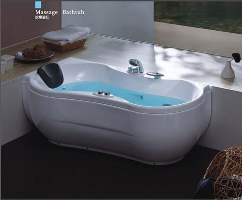 $1703.45- 63' Sea Left Head Rest Whirlpool Bathtub Acrylic Abs Composite Board Piscine Curve Massage Hot Tub W4009