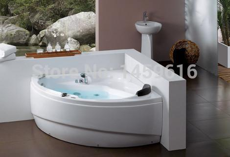 $2323.45- Ocean Triangular Whirlpool Bathtub Acrylic Piscine Wall Corner Massage Hot Tub W4013