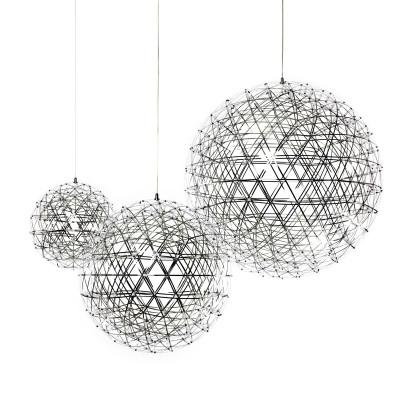 $210.80- Warm White Dimmable Firework Ball Led Pendant Light Modern Creative Pendant Lamps Stainless Steel Ball Lighting Restaurant/Foyer