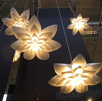 $89.76- Lily Flower Lamp Pendant Light Pp Shade Diameter 55/70/85Cm Lotus Lampshape Diy Lampshade Bedroom/Shops Led Light Fixture