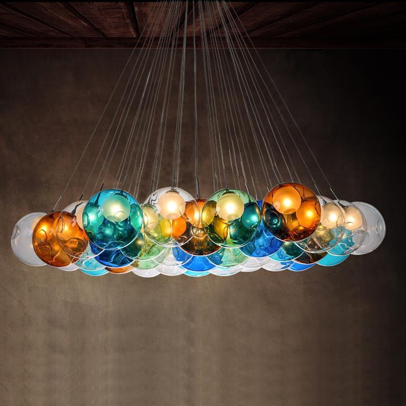 Buy creative design modern led colorful glass pendant lights lamps 20128 creative design modern led colorful glass pendant lights lamps for dining room living room aloadofball Image collections