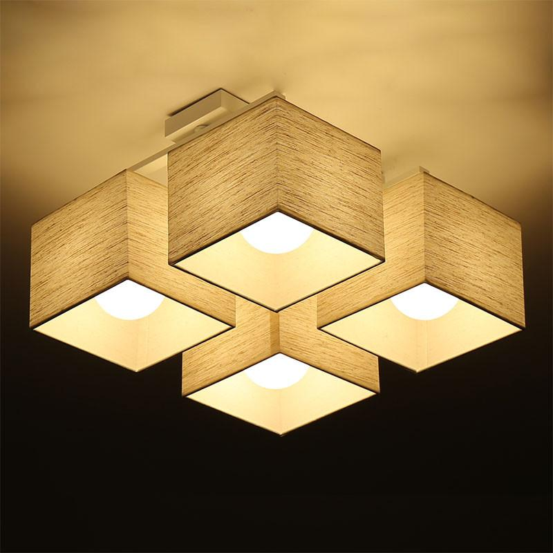 Fabric Cloth Led Ceiling Light Atmosphere Modern Living Room Lamp Nordic Lamps Bedroom Lighting