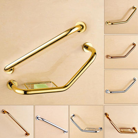 $74.59- Wall Mounted Shower Grab Bars For Bathroom Safety Grab Rod Wall Mount Solid Brass Bath & Shower Handrail Hand Grip