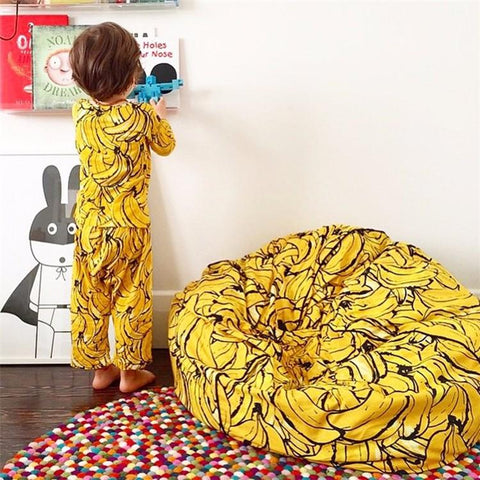 2016 Ins Kids Children Super Comfortable Sofa Lazy Banana Bean Bag Filling Sofa Chair Beanbag Photography Toys Bed Room Decor