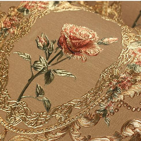 $69.33- New Luxury Gold 3D Rose Wall Paper 3D Relief Murals Background Wallpaper Damascus Floral Wallpaper For Living Room Bedroom Tv