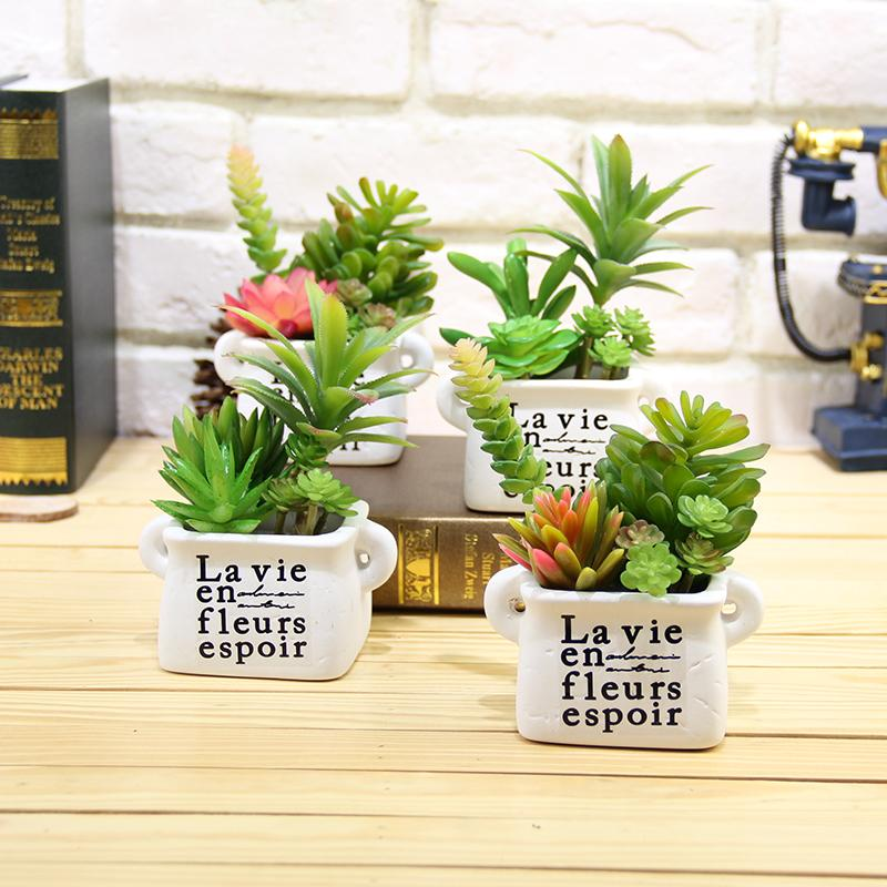 Artificial Succulents Lifelike Mini Artificial Plants Fake Flower Christmas Wedding Decorations For Home Plantas Artificiales