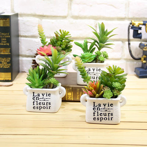 $2.07- Artificial Succulents Lifelike Mini Artificial Plants Fake Flower Christmas Wedding Decorations For Home Plantas Artificiales