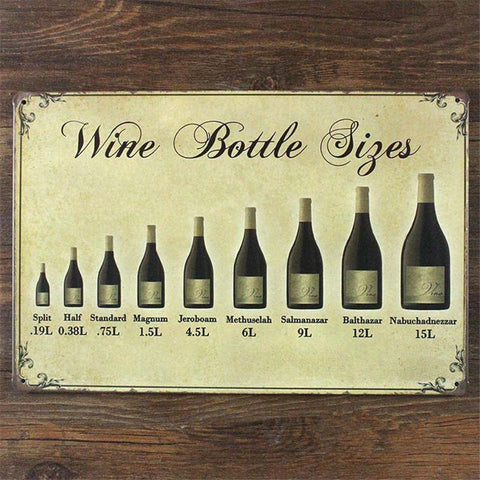$12.08- Wine Bottle Vintage Metal Sign Home Decor Vintage Decorative Plates Shabby Chic Tin Signs Bar Cafe Pub 20*30 Cm Wall Decor