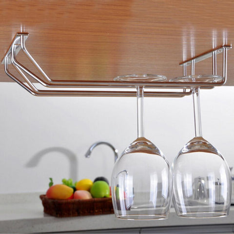 $23.42- Double Rows Top Quality Stainless Steel Glass Rack Red Wine Glass Cup Hanger Holder Goblet Racks Dryer 3Size