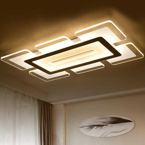 Ultrathin Remote Control Modern Ceiling Chandelier Lights For Living Room Bedroom Hallway Home Lamp Fixtures