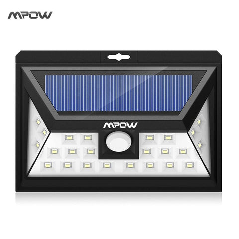 $40.93- Mpow 24 Led Solar Sun Light Ip65 Waterproof Wide Angle Security Motion Sensor Light W/ 3 Modes Motion Activated For Patio Garden