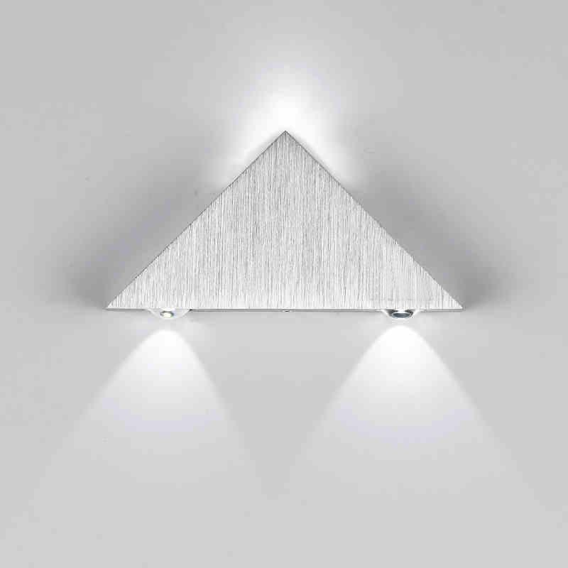 $17.08- Modern Led Triangle Aluminum 3W Sconce Led Lamp AC Creative Industrial Light Indoor Outdoor Lighting Fixtures House Lamparas