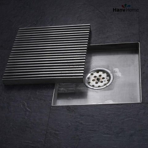 $72.83- 6 Inch Square Shower Floor Drain Made Of 304 Stainless Steel Bathroom Shower Drain 150*150Mm