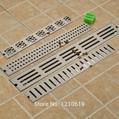 $96.08- Euro Style Nickle Brushed 90*10 Cm Deodorization Grill Waste Bathroom Shower Floor Drain