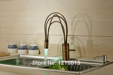 Long Spout Bathroom Sink Basin Faucet Deck Mount Painting Washing Basin Mixer Water Taps