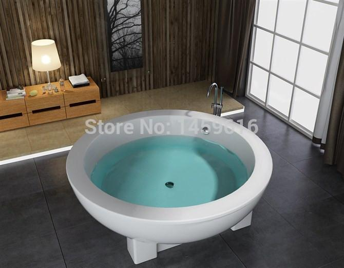 $2168.45- 71' Sea Round standing Bathtub Acrylic Abs Composite Board Soaking Hot Tub W8003