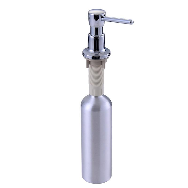 $19.44- Kitchen Sink Soap Dispenser Sink Detergent Bottle Copper Head Aluminum Bottle Deck Mounted