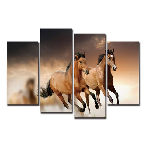 $26.78- Horses Running Canvas Art Print Poster Animal Cuadros Decoracion Vintage Modern Wall Christmas Canvas Pictures For Home Decor