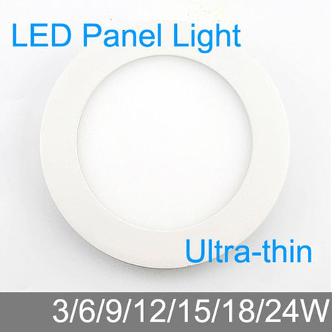 $5.42- Ultra Thin Design 3W/6W/9W/12W/15W/18W/24W Led Ceiling Recessed Grid Downlight/ Slim Round Panel Light / Led Light